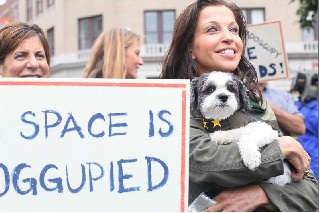 Wendy Diamond Leads Protest For Better Food For Dogs In Union Square