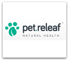 Pet Releaf logo on white box